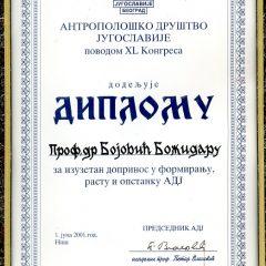 Плакета Антрополошког друштва ЈУ